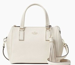 New Kate Spade Naomi small Satchel Leather handbag Soft Limestone - $184.68 CAD