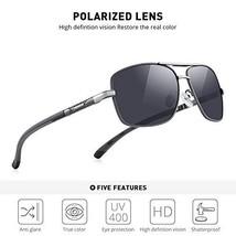 Driving Aluminum fram Polarized Silver Men's Sunglasses  - $40.88
