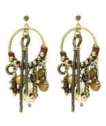 Exotic Treska Sheena Collection Glass Bead Fringe Hoop Earrings - $24.95