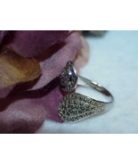 Sterling Silver Marcasite Wrap Bypass Ring Size 7 Antique 4.3 Gr Adjusts... - $69.29