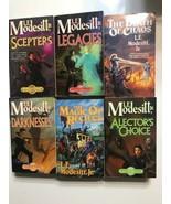 Lot 6 L E Modesitt Jr Fantasy Soft back books The death of Chaos, Legacies - $18.69
