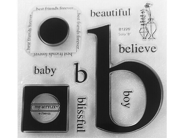 """Close to My Heart Solo """"B"""" Clear Acrylic Stamp Set #B1226"""