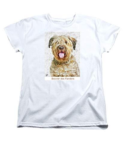 Primary image for Pieter - Bouvier Des Flanders - Women's T-Shirt (Standard Fit) - White/Medium