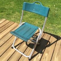 Vtg COLEMAN Folding Chair ALUMINUM Lightweight Camp Camping Travel Fishi... - $39.97