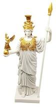 Virgin Patroness of Athens Athena Greek Goddess Figurine Wisdom War Stra... - $51.26