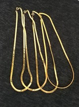 "LOT OF 4 - Gold Plated 8"" Korea Gold Thick Chain Links Necklaces NEW - $9.86"