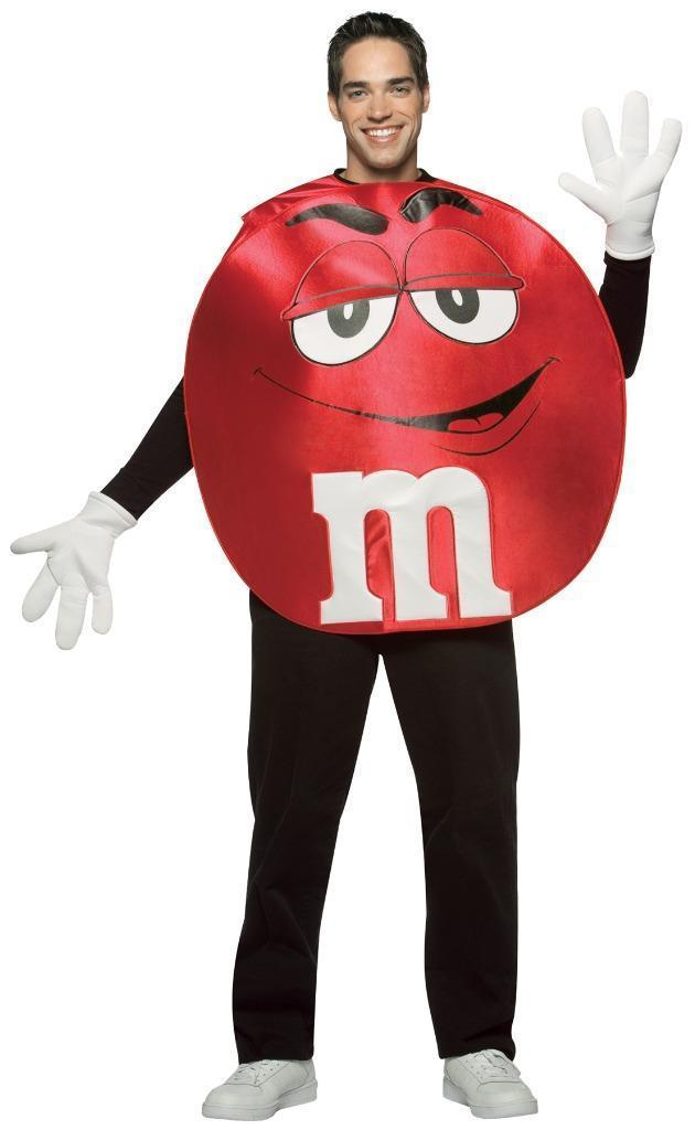 M&M'S Costume Adult Red Men Women Food Candy Halloween Party Unique GC45303