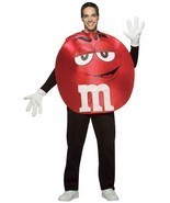 M&M'S Costume Adult Red Men Women Food Candy Halloween Party Unique GC45303 - £40.72 GBP