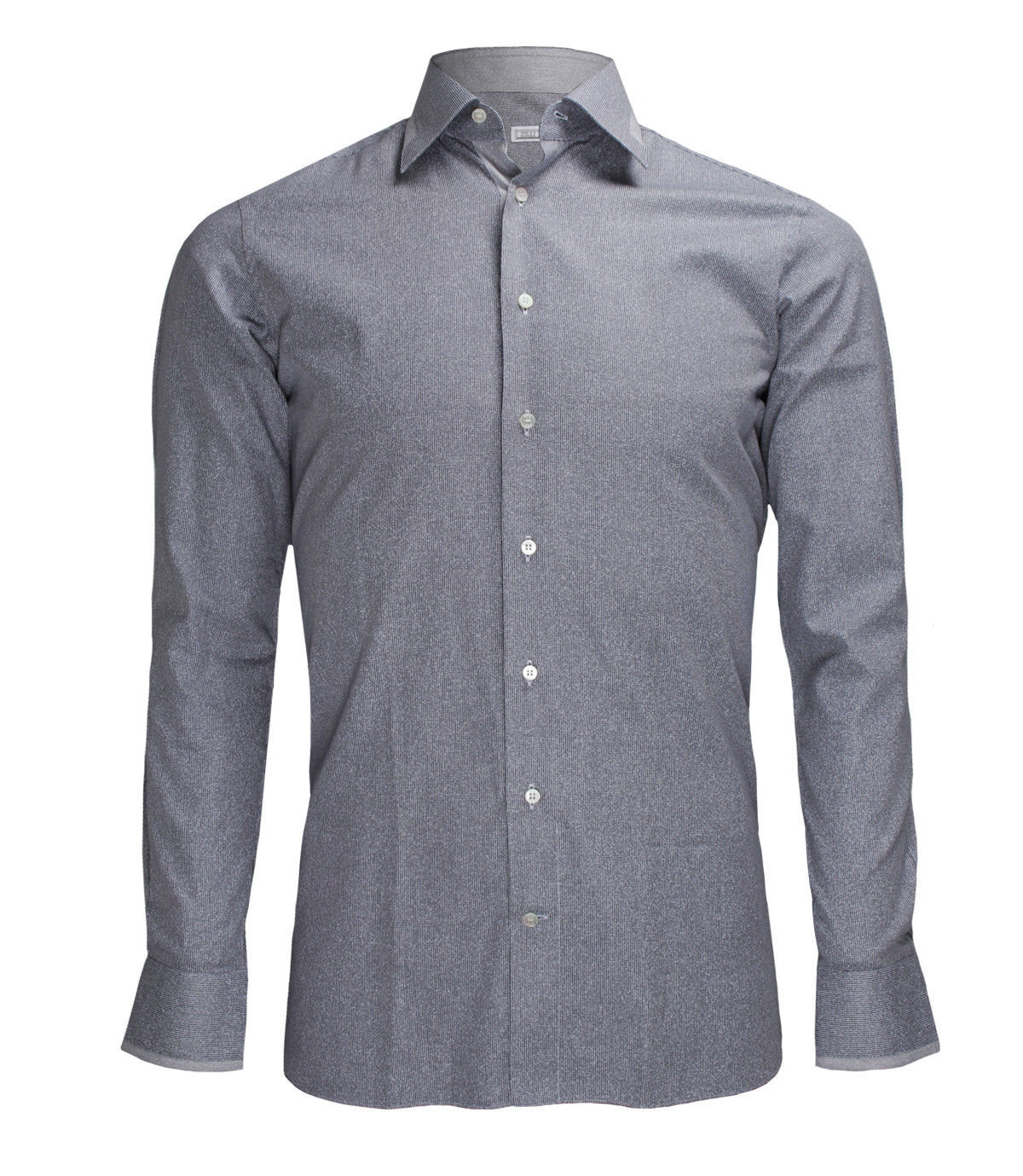 Zilli Men's Grey Patterned Cotton Dress Shirt Regular fit, size 40(15.75)