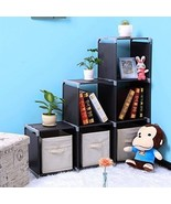 Cube Storage Organizer 6-cube Shelf Bookcase Home Organization Cabinet F... - £38.09 GBP