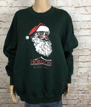 Horizon Lake Tahoe Santa Claus Sweatshirt Green Red White Graphic Size XL - $65.93