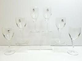 """6 Luigi Bormioli Light Music Italy 6 1/2"""" Clear Elegant Table Wine Glass... - $58.08"""