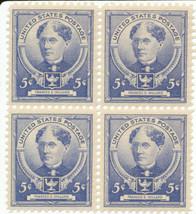 1940 Frances E Willard Block of 4 US Postage Stamps Catalog Number 872 MNH