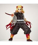 New Demon Slayer Rengoku Kyoujurou Anime Figure 20cm PVC Model Toy - $38.59