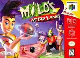 Milo's Astro Lanes N64 Great Condition Fast Shipping - $8.44