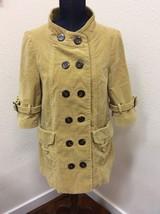 Anthropologie Elevenses Jacket Sz 8 Mustard Yellow Cotton Stretch - $39.59
