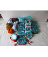 35 Mix Assorted Pouch with a Green Plastic Lid/Candy Crochet Bags and Mi... - $30.00