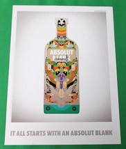 IT ALL STARTS WITH AN ABSOLUT BLANK Italian Vodka Magazine Ad CHAMARELLI... - $14.99