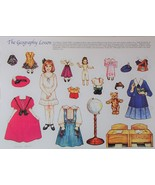The Geography Lesson Paper Doll Theresa Borelli + Cardstock + Envelope New  - $7.49