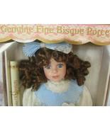 """Fine porcelain 16"""" collectors choice doll brown hair  blue dress w/box - $31.19"""