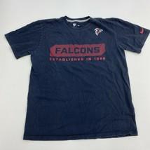 Nike T-Shirt Mens Medium Falcons NFL Black Short Sleeve Casual - $17.99