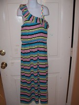 BEVERLY HILLS POLO CLUB STRIPED MAXI DRESS SIZE 10/12 GIRL'S EUC - $19.50