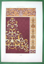 BAROQUE & Renaissance Italian Embroidery - COLOR Litho Print by Racinet - $16.20