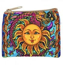 Sun  Canvas Change Purse Coin Wallet Small - $9.99