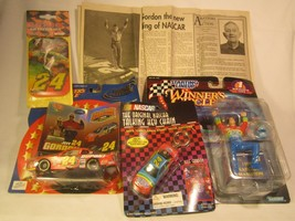 Lot Of Jeff Gordon Collectibles 1:43 Car Du Pont Figure 1997 Sports [Z165i] - $22.33