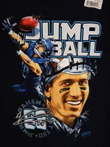 NFL PLAYERS Jimmy Graham Jump Ball T-Shirt Blue Seattle Seahawks size La... - $18.00