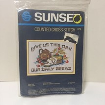 """Give Us This Day Out Daily Bread Cross Stitch Kit Sunset 5"""" x 7"""" - $9.74"""