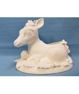 Christmas Holiday Reindeer Deer Ready to Paint Plaster Figurine Vase Whi... - $24.95
