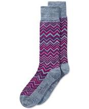 Alfani Knit Chevron Casual Socks Purple Size 10-13 - $4.45