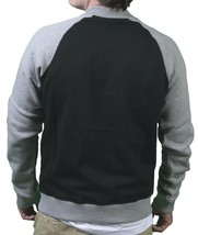 WeSC Balker Black Raglan Fleece Button Baseball Sweater Jacket Large NWT image 2