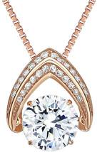 NaNa Omega Dancing Stone Pendant Swarovski Zirconia S-Silver with .8mm 2... - $2.583,09 MXN