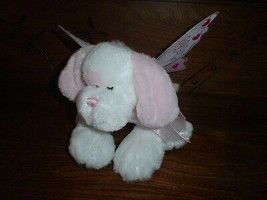 Ganz Heritage Fairy Dust Puppy Plush Jeweled Wings Pink and White  - $57.83