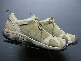 Women's KEEN Olive Brown Leather Light Trail Hiking Sport Oxford Sz. 39/8.5 Exce - $37.76