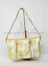 NWT Brahmin Mini Asher Leather Satchel/Shoulder Bag in Multi Pompano image 2