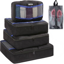 5 Set Packing Cubes for travel with shoe bag Luggage Packing Organizers ... - $744,12 MXN