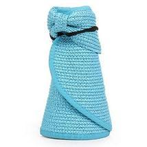 PANDA SUPERSTORE Summer Beautiful Hat Floppy Topless Straw Sun Hat Cap Girls,Blu