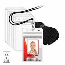 MIFFLIN Lanyard with Vertical ID Holder Satin Black Non-Breakaway Cord, ... - $21.57