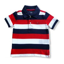 Polo Tommy Hilfiger Shirt Baby Boys Classic Large Striped White Red Size... - $24.99