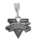 Street fighter V Charm Real Genuine Sterling Silver 925 video game theme... - $41.57