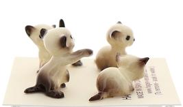 Hagen-Renaker Miniature Cat Figurine Tiny Siamese Kittens Set Seal Point image 4