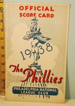 1938 Philadelphia Fightin' Phillies v Reds Baseball Score Card Program U... - $54.45