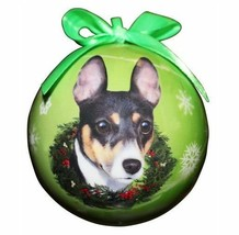 RAT TERRIER CHRISTMAS BALL ORNAMENT DOG HOLIDAY XMAS PET LOVERS GIFT - $10.95