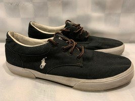 POLO Ralph Lauren FELTON Black Canvas Sneakers Men's Shoes Size 11 D - $21.48 CAD
