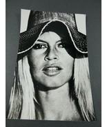 Actress Brigitte Bardot wearing hat press photo  - $34.65