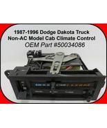 1987-1996 Dodge Dakota Cab Climate Control Controller Non AC Model RARE ... - $108.90