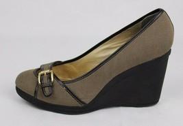 MICHAEL Michael Kors women's platform heels textile leather classic size 8.5 M - $28.67